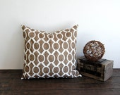 "Brown pillow cover One 16"" x 16"" cushion cover Italian Brown pillows brown throw pillows Sydney"