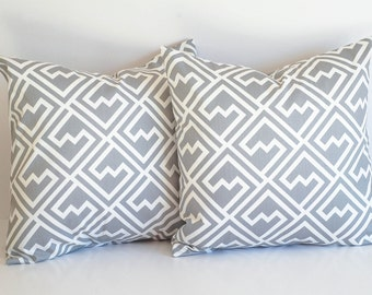 Decorative Throw Pillow Covers Pair Storm Gray and White Shakes Cushion Covers Pillow Sham