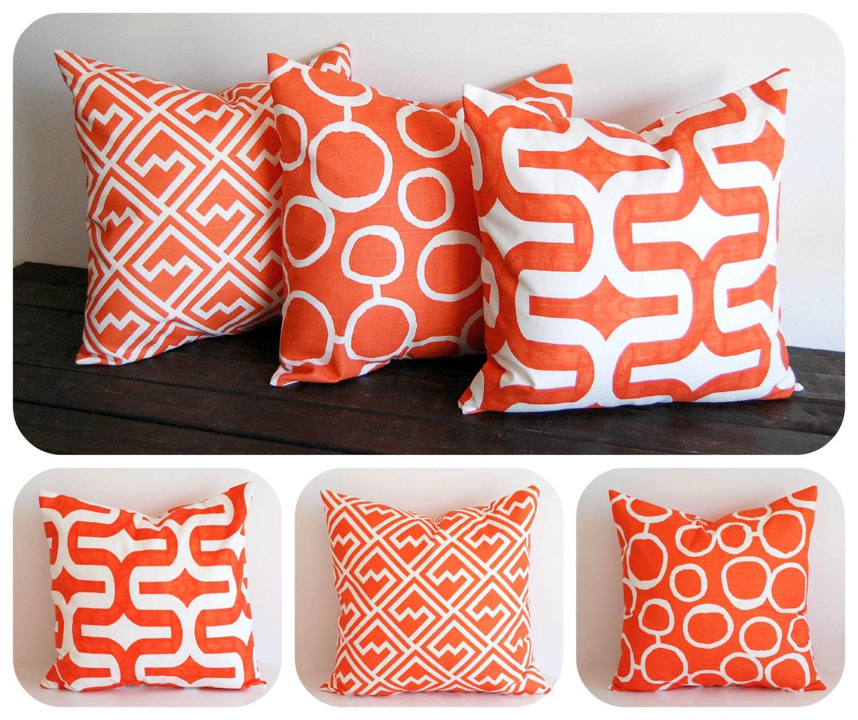 orange cushions covers