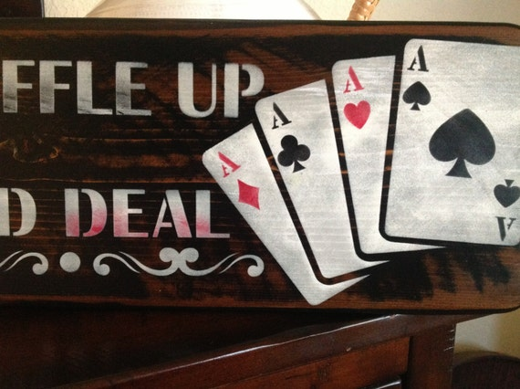 Items Similar To Shuffle Up And Deal Game Room Signs