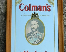 Colman's Mustard advertising mirror