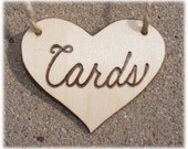 Card box wooden heart, Rustic Wooden Cards wedding sign in natural wood, burned cards sign, heart shapped cards sign - ready to ship