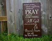 Scripture Art, Wooden Sign, Philippians 4:6