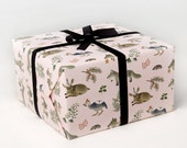 Forest Animals Wrapping Paper - Pink -