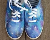 Galaxy sneakers, shoes, sneakers, galaxy art, original art, OOAK, womens sneakers, Custom sneakers, handpainted