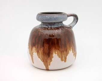 Fat Lava handled vase by VEB Haldensleben (4128A)