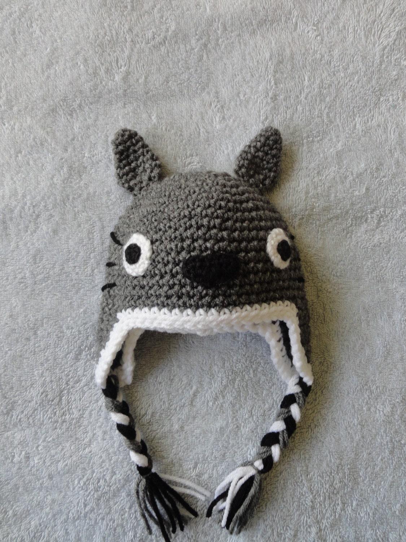 Crochet Pattern Totoro Hat : Totoro hat baby hat crochet hat by scotako on Etsy