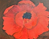 Formal Poppy - original painting