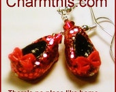 Red Glitter Shoes Polymer Clay Earrings