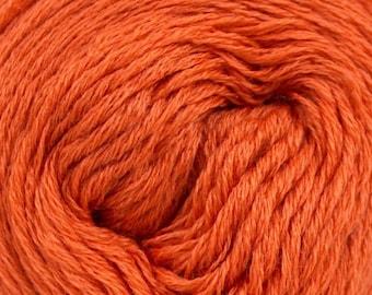 Wool yarn, sock yarn, winter soft yarn, very thin orange yarn, superfine ICE baby yarn 650 m in 50 gr