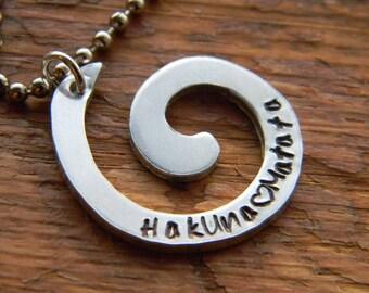 Hakuna Matata swirl necklace