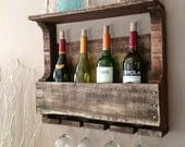 Reclaimed Wood Wine Rack - DelHutson