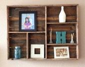 Reclaimed wood wall shelf (large)
