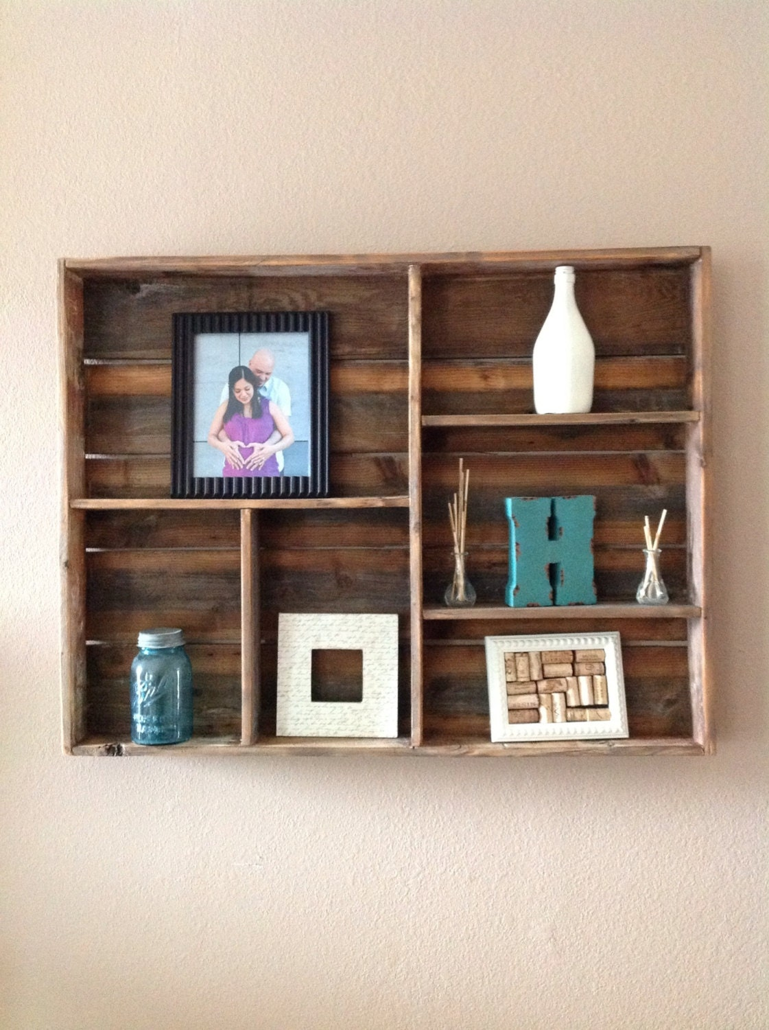 reclaimed wood wall shelf large by delhutsondesigns on etsy. Black Bedroom Furniture Sets. Home Design Ideas