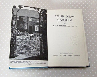 Vintage Retro 1972 Your New Garden Hardback Book by A G L Hellyer - Kath