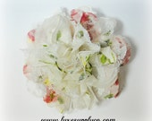 Vintage Floral and Lace Shabby Chic Flower - Lace and Chiffon Shabby Flower - Price Discount: PLEASE READ LISTING - Fabric Flower Head