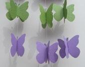 Lavender and Green 3D Garland Glitter, Birthdays, Weddings, Showers, Parties 6 FEET