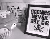 Goonies Cross Stitch - Goonies Never Say Die - Cross Stitch Digital Pattern PDF