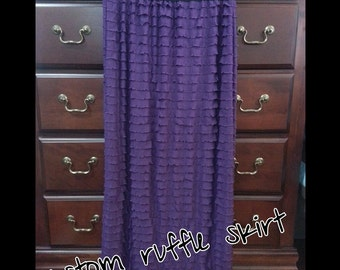Custom Knit ruffle skirt