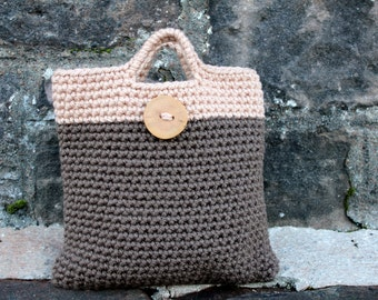 CROCHET PATTERN - womens Purse with button pattern - Listing41