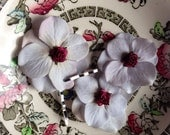 White hydrangea flowers with burgundy red rose bridal weddings jewellery hair clips bobby pins
