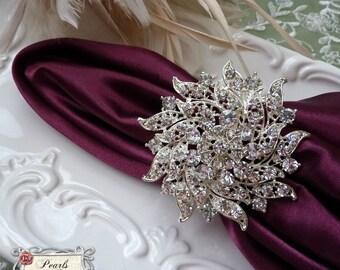 Brooch wedding napkin ring Etsy