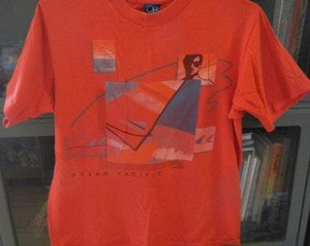 Soft! Bitchin 1984 OP Ocean Pacific Surfer Shirt L