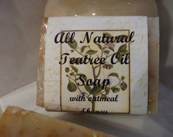 All Natural Cold Processed Tea Tree, Oatmeal, and Honey Soap