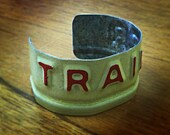 Texas License Plate Bracelets - Trailer/Red