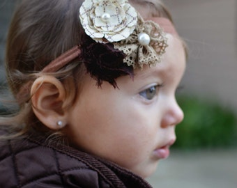 vintage headband..baby girl headband..girls headband