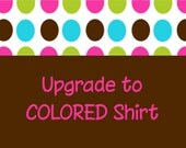 UPGRADE to Color Short Sleeve Shirt to be purchased in addition to a DC Stitches Listing