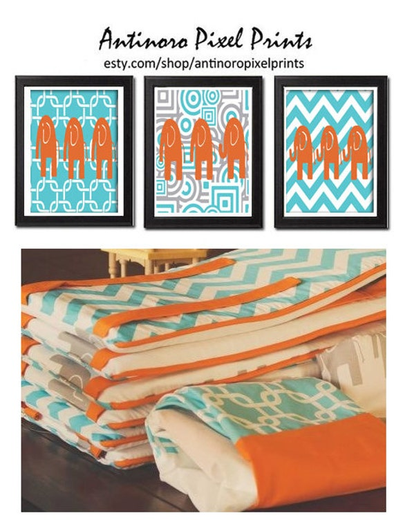 Unavailable listing on etsy - Turquoise and orange kitchen ...