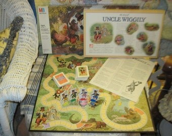 UNCLE WIGGLY Board Game 1988