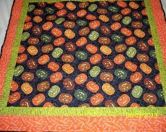 Halloween Pumpkins Lap Size Quilt/Wall Hanging
