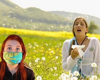 Fashionable Face mask for City smog, Pollen, Sunburn, Pollution, Dust, washable, after face surgery