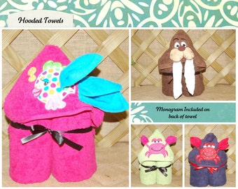 Hooded Towels (with Washcloth)