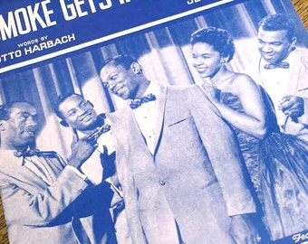 VINTAGE the PLATTERS Smoke Gets in your EYES