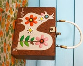 Enid Collins Early Bird wooden box purse