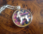 Astrological Sign 3D Capricorn , Necklace,Zodiac Charm, Astrology