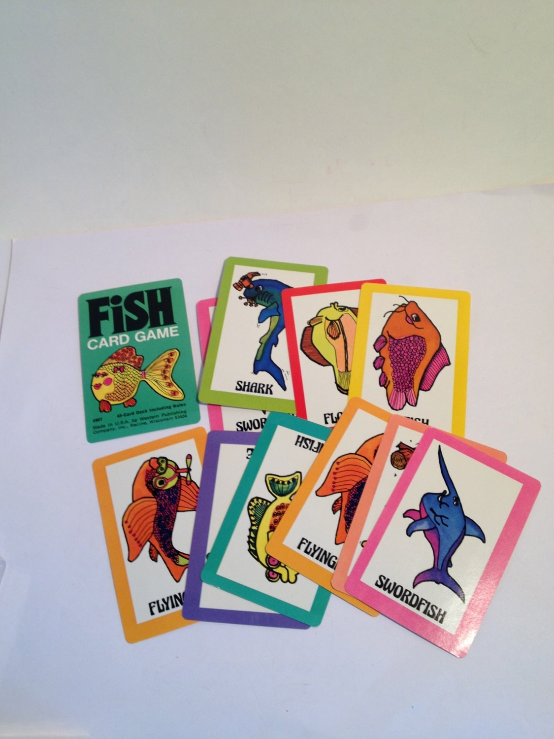 Whitman fish card game vintage whitman go fish cards 45 for Go fish cards
