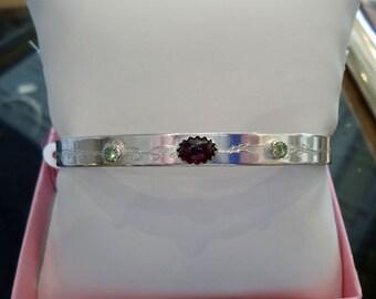 Gemstone Sterling Silver cuff