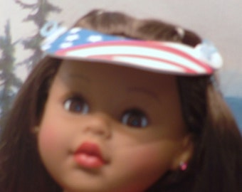 Stars and Stripes Visor for your 18 Inch Doll