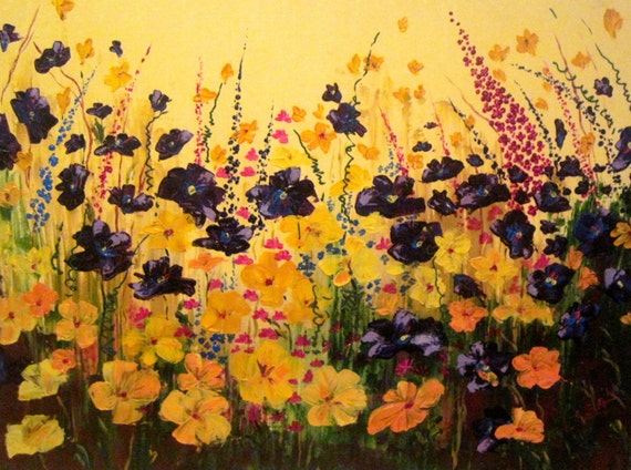 Flowers Painting 50% OFF Original Oil Acrylic Painting