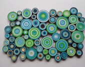 Modern wall decor Blue green  wall hanging Trendy home Bedroom //  livingroom wall art