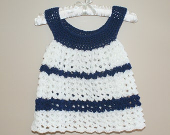 Baby Pinafore, Crochet Baby Dress, Infant Dress, Girl Baby Clothing, Girl Baby Clothes, Blue Baby Dress, Baby Girl Dress, Newborn Dres