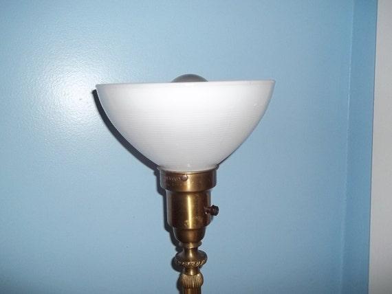 Antique Colonial Premier Floor Lamp Brass Mogul Socket