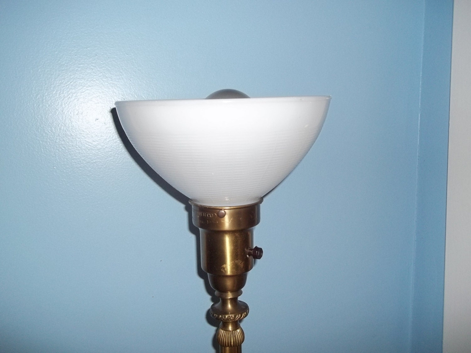 Antique Colonial Premier Floor Lamp Brass Mogul Socket