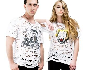 Post Apocalyptic Punk Shredded T shirt