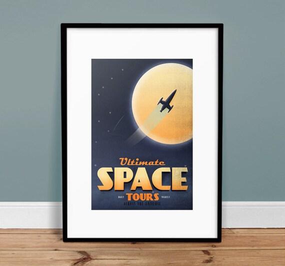 Space Tours Poster Art Print