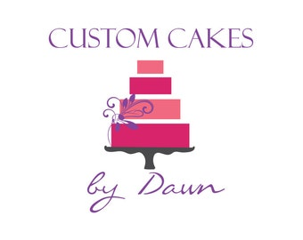 Custom Business Logo watermark OOAK Design - Boutique Package includes 2 stationary items i.e. Sticker - letterhead -  Business Card